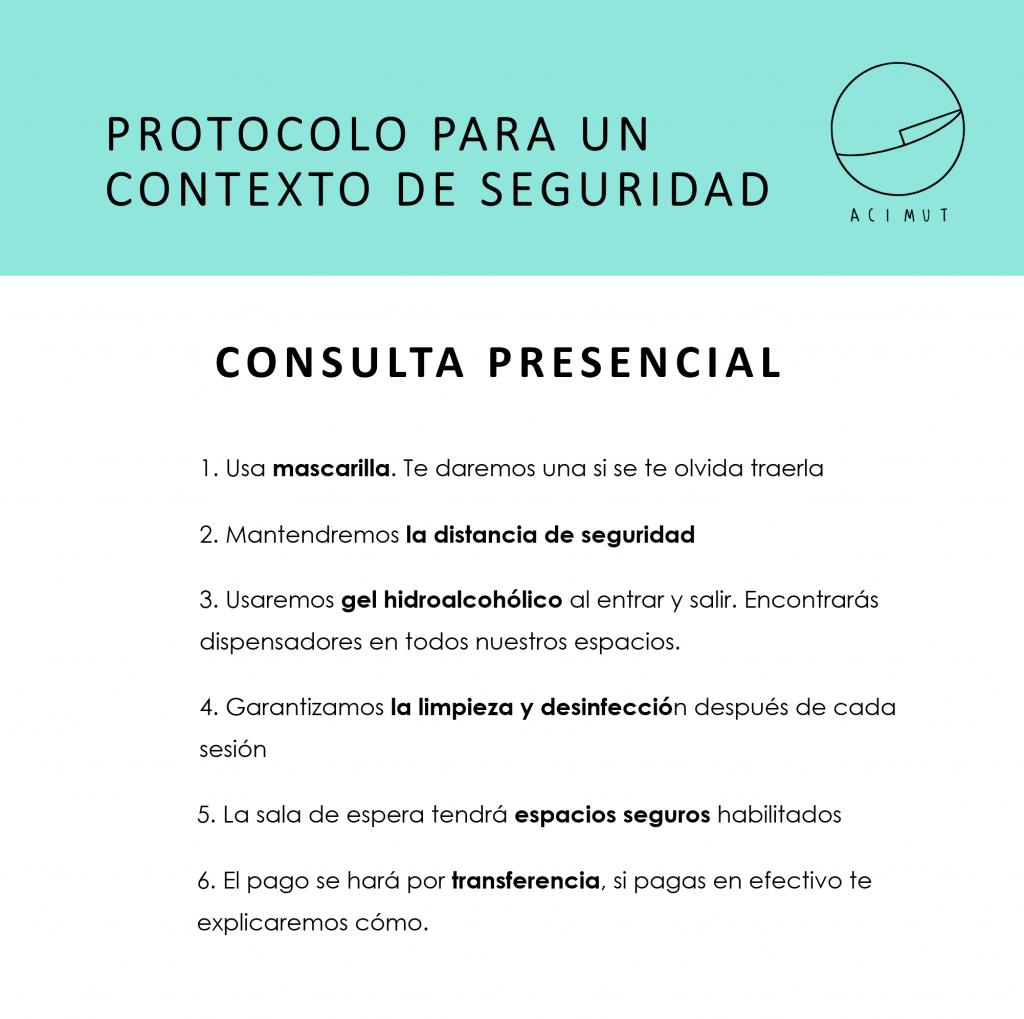 Protocolo de sanidad en consultas presenciales