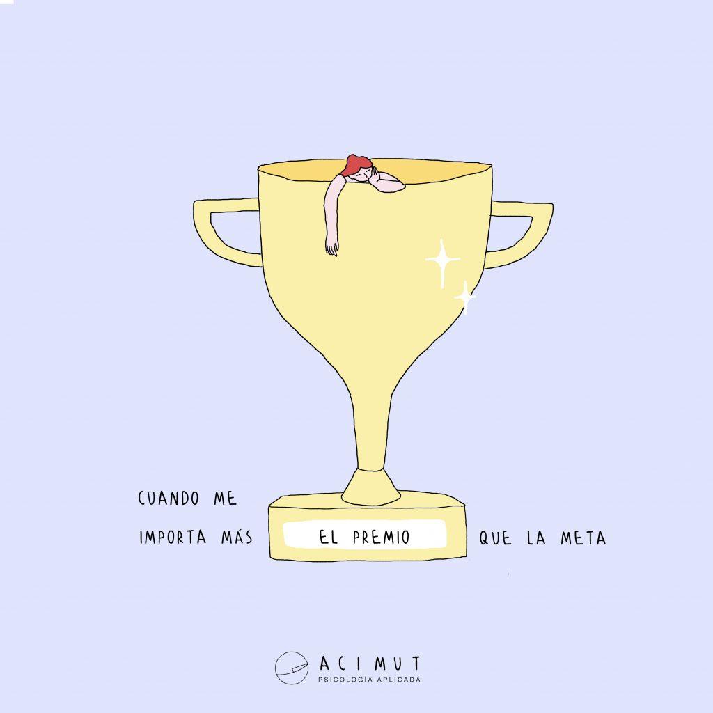 Cuando importa más el premio que la meta